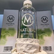 M-natural lasipullo 1 litra