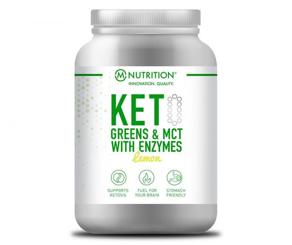 KETO Greens & MCT with Enzymes, Lemon, 600 g