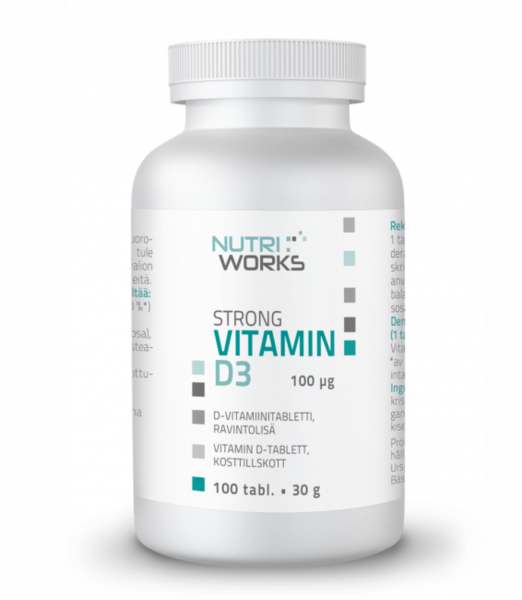 Nutri Works D3 Vitamin 100tabl